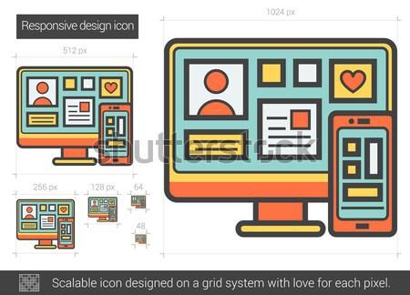 Responsive design line icon. Stock photo © RAStudio