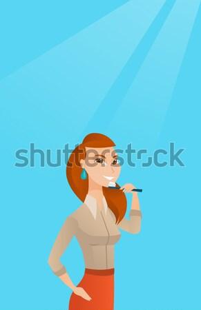 питьевой соды кавказский женщину Сток-фото © RAStudio