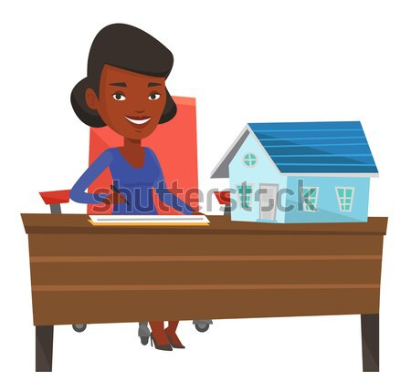 Real estate agent signing contract. Stock photo © RAStudio