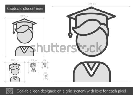 Graduate student line icon. Stock photo © RAStudio