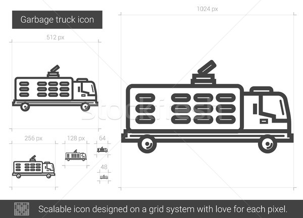 Garbage truck line icon. Stock photo © RAStudio
