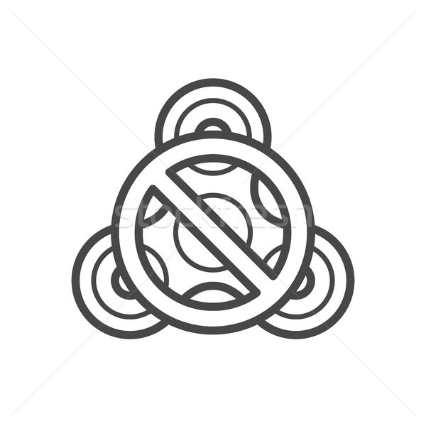 Stop fidget spinner line vector icon. Stock photo © RAStudio