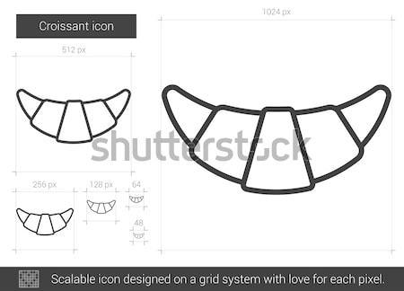 Correia linha ícone vetor isolado branco Foto stock © RAStudio