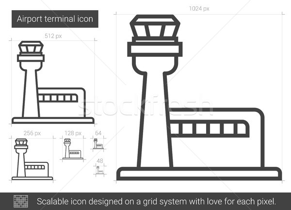 Airport terminal line icon  vector illustration © Andrei