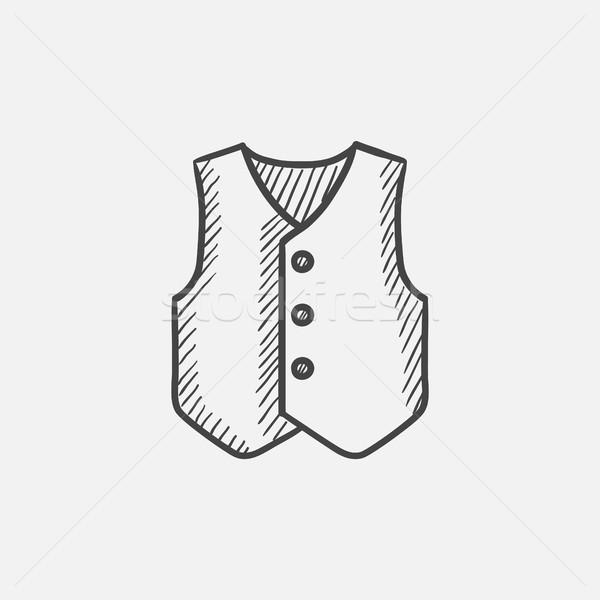 Vest schets icon web mobiele infographics Stockfoto © RAStudio