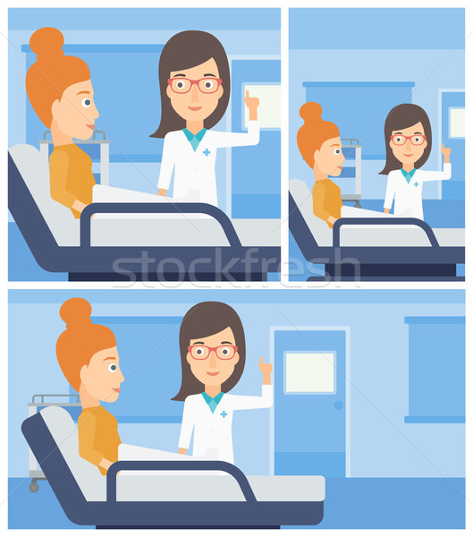 Doctor visiting patient. Stock photo © RAStudio