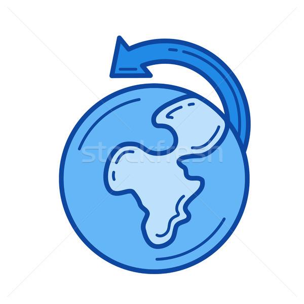 Worldwide shipping line icon. Stock photo © RAStudio