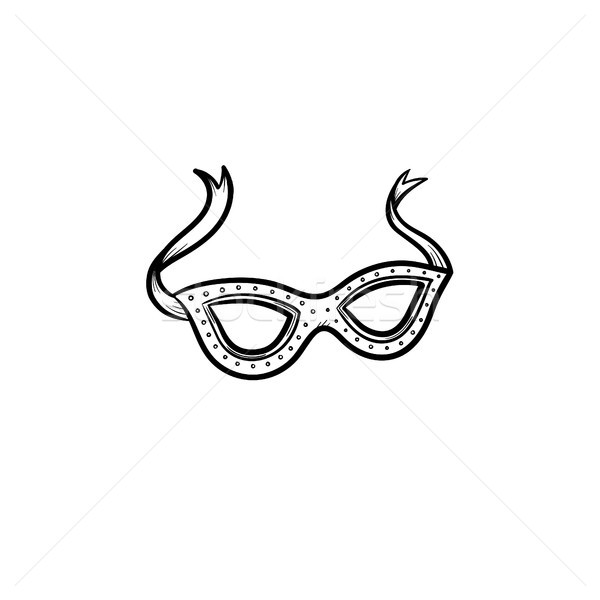 Carnival mask hand drawn sketch icon. Stock photo © RAStudio