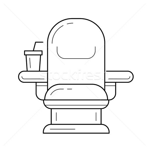 Cinema chair line icon. Stock photo © RAStudio