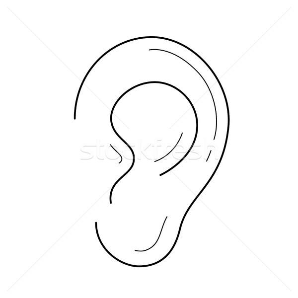 Ear line icon. Stock photo © RAStudio