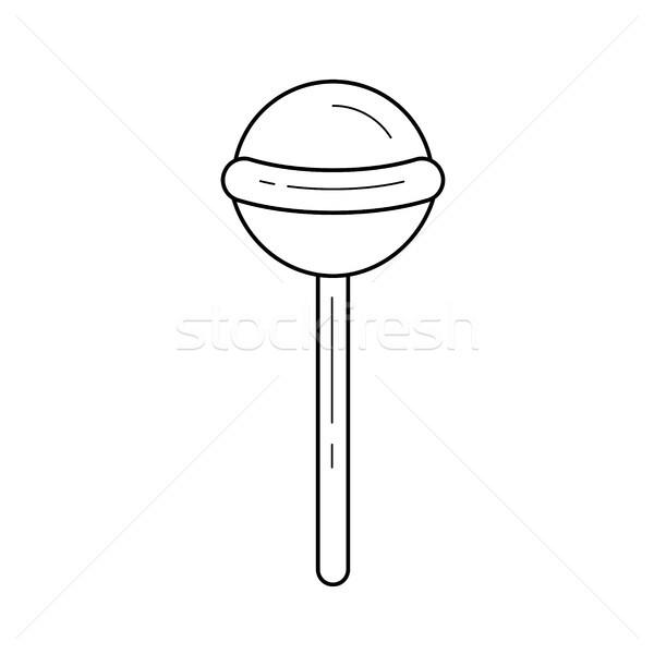 Lollipop vector line icon. Stock photo © RAStudio