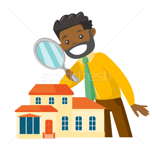 African-american businessman looking for house. Stock photo © RAStudio