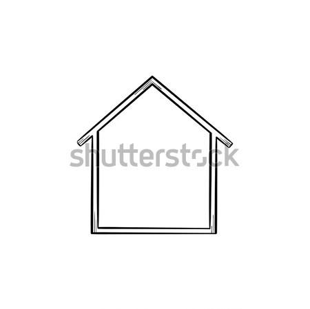 House icon hand drawn outline doodle icon. Stock photo © RAStudio