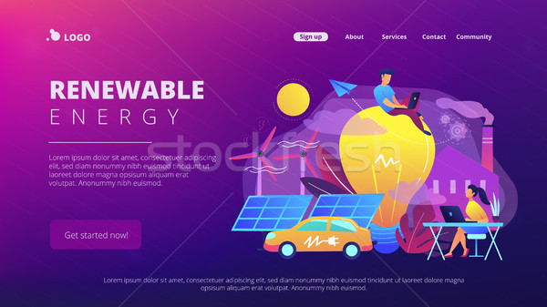 Renewable energy landing page. Stock photo © RAStudio