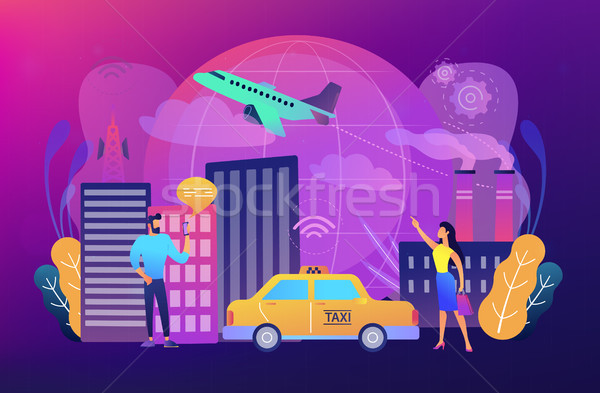 Global internet of things smart city concept vector illustration Stock photo © RAStudio