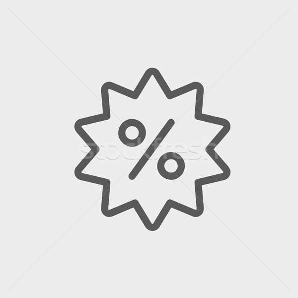 Discount tag thin line icon Stock photo © RAStudio