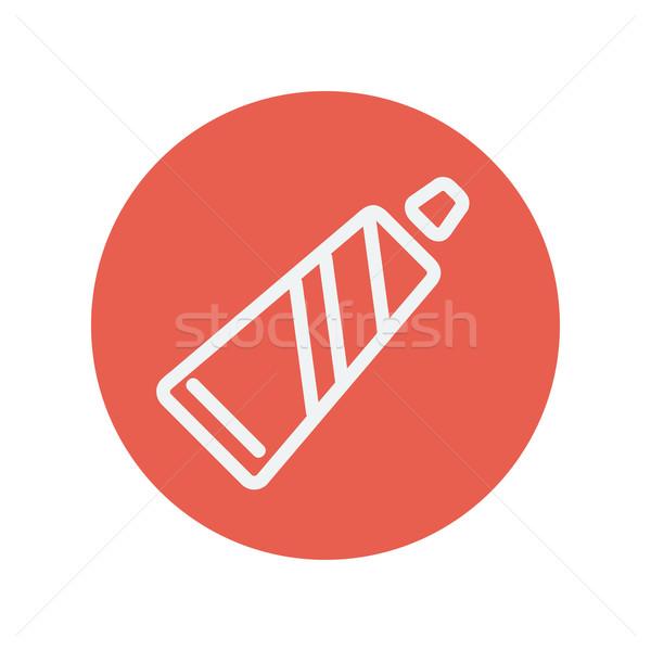 Tubo dentifricio sottile line icona web Foto d'archivio © RAStudio