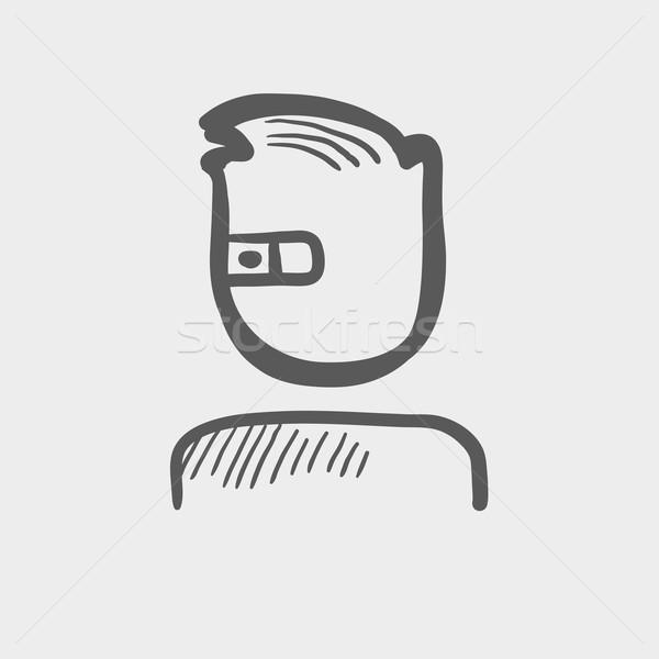 Computer web camera sketch icon Stock photo © RAStudio