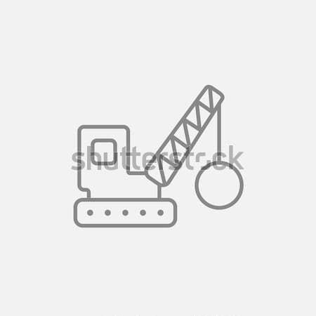 Shopping handling trolley icon drawn in chalk. Stock photo © RAStudio