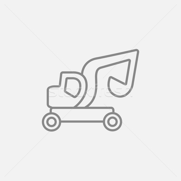Excavator truck line icon. Stock photo © RAStudio