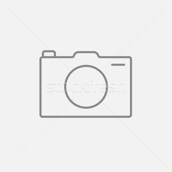 Foto stock: Câmera · linha · ícone · teia · móvel · infográficos