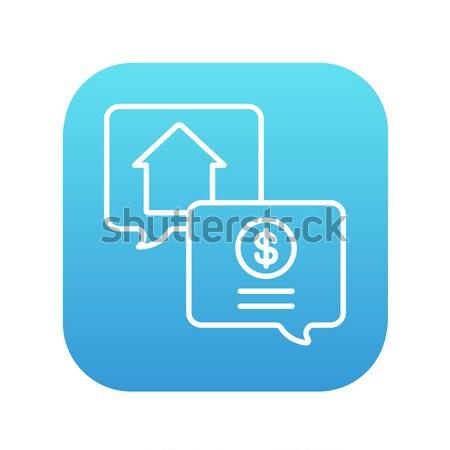 Ingatlan tranzakció vonal ikon háló mobil Stock fotó © RAStudio