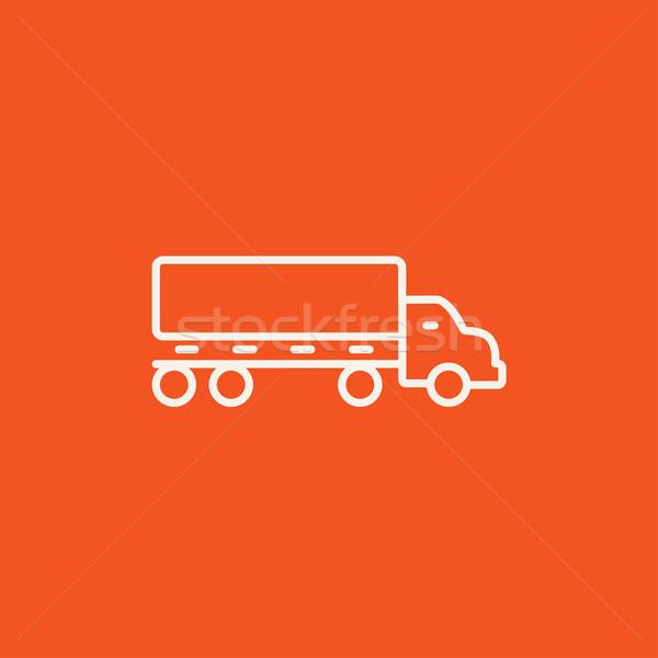 грузовик линия икона веб мобильных Инфографика Сток-фото © RAStudio