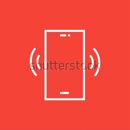 Vibrating phone line icon. Stock photo © RAStudio