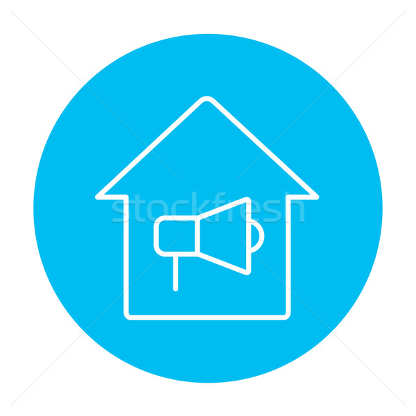 House fire alarm line icon. Stock photo © RAStudio