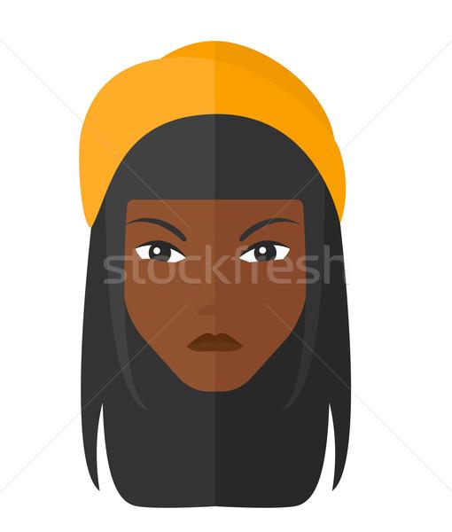 Stockfoto: Boos · vrouw · vector · ontwerp · illustratie · geïsoleerd