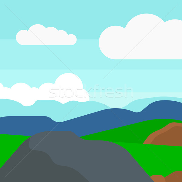 Background of hilly countryside. Stock photo © RAStudio