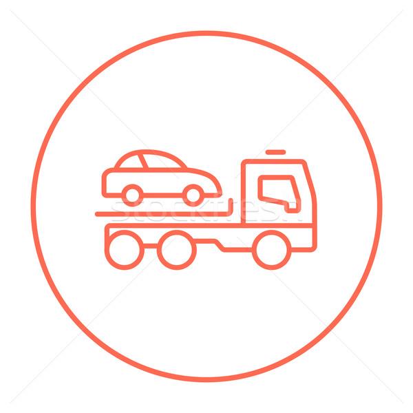 Car towing truck line icon. Stock photo © RAStudio
