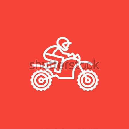 Motocicleta linha ícone teia móvel infográficos Foto stock © RAStudio