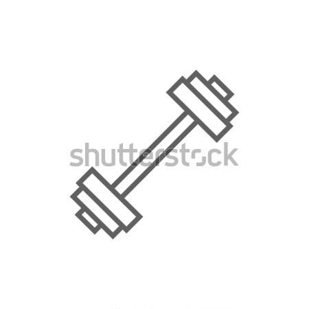 Stock fotó: Súlyzó · vonal · ikon · sarkok · háló · mobil