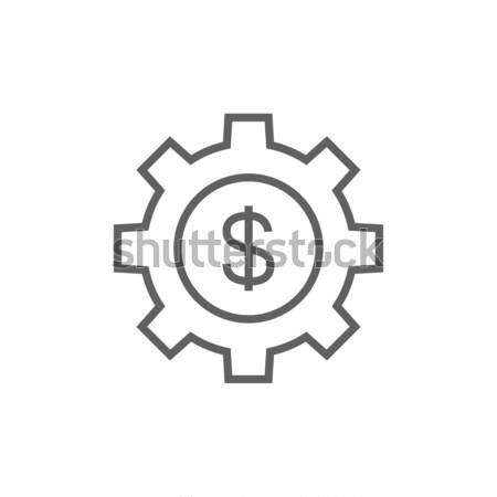 Gear with dollar sign line icon. Stock photo © RAStudio