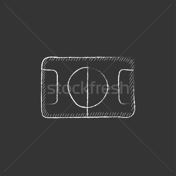 Stade layout craie icône dessinés à la main Photo stock © RAStudio
