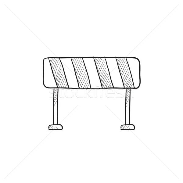 Weg schets icon vector geïsoleerd Stockfoto © RAStudio