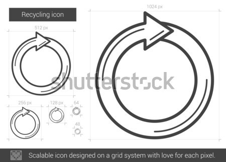 Stock photo: Circular arrow sketch icon.