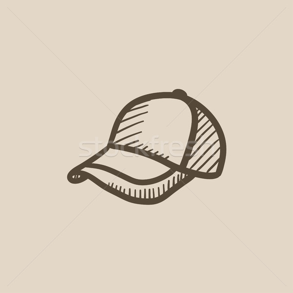 Baseball hat sketch icon. Stock photo © RAStudio