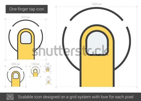Dokunun hat ikon vektör yalıtılmış beyaz Stok fotoğraf © RAStudio