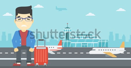 Man suffering from fear of flying. Stock photo © RAStudio