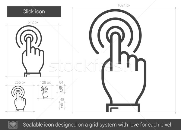Click line icon. Stock photo © RAStudio
