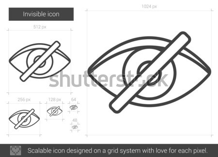 Láthatatlan vonal ikon vektor izolált fehér Stock fotó © RAStudio