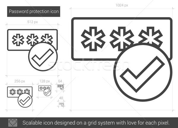 Parola koruma hat ikon vektör yalıtılmış Stok fotoğraf © RAStudio