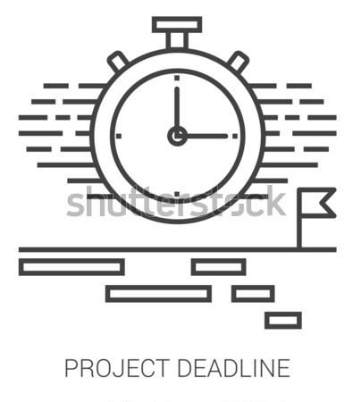 Proyecto fecha tope línea infografía metáfora iconos Foto stock © RAStudio