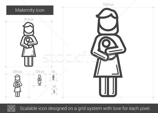 Maternidad línea icono vector aislado blanco Foto stock © RAStudio