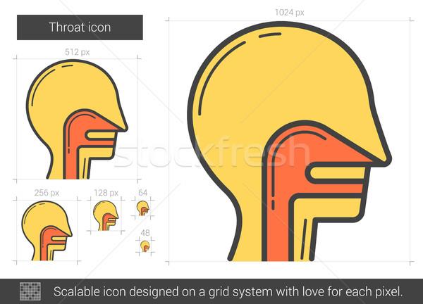 Keel lijn icon vector geïsoleerd witte Stockfoto © RAStudio