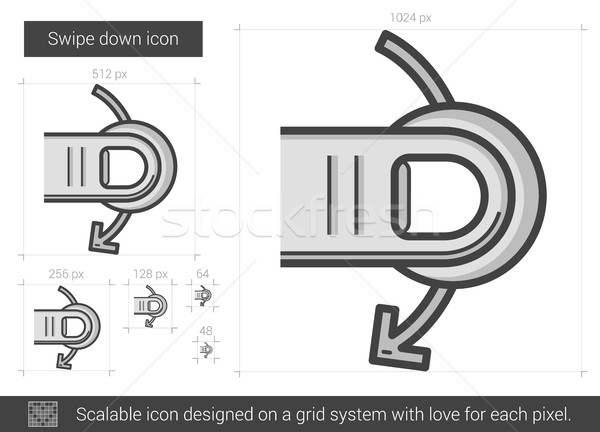 Swipe down line icon. Stock photo © RAStudio