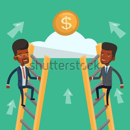 Two business woman competing for the money. Stock photo © RAStudio