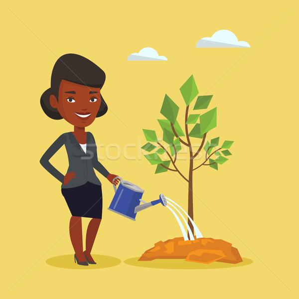 Сток-фото: женщину · дерево · дружественный · улыбаясь · женщины